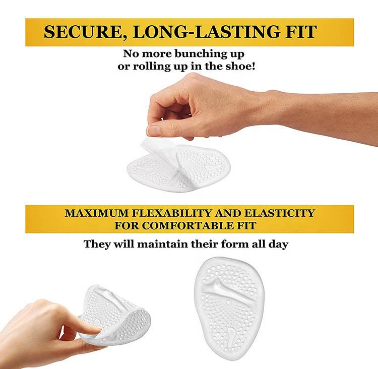 Shoe Insole Gel Toe Pad Forefoot Shoes Cushion Women High Heel Half Insole