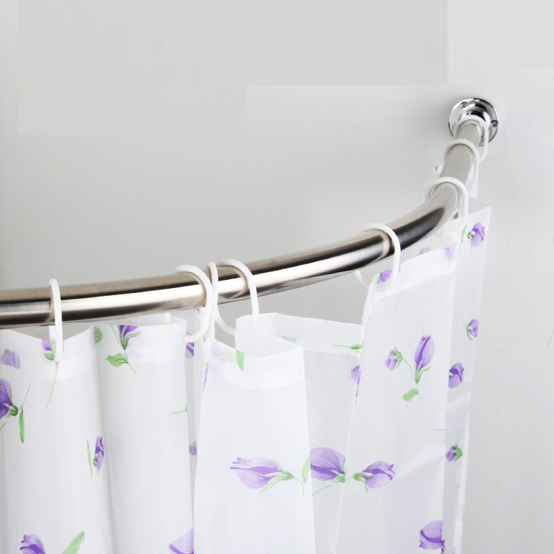 Bathroom accessories curved metal shower curtain rod
