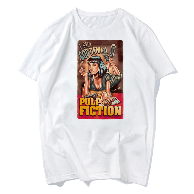 70b13ce84417 Movie Mia Wallace Pulp Fiction T Shirt Men Fashion Summer Quentin ...