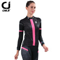 Autumn Cycling Set Women Pro Cheji Bike Jersey Bicycle Clothes Cycling Jersey Black Biking Suit Women