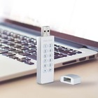 USB2.0 Flash Drive 16GB 32GB U Disk Keypad Lock AES 256-bit Hardware Off-line Encryption Pen Drive Memory Stick