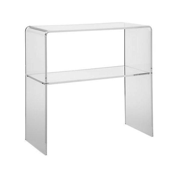 table console demi lune table console acrylique table. Black Bedroom Furniture Sets. Home Design Ideas