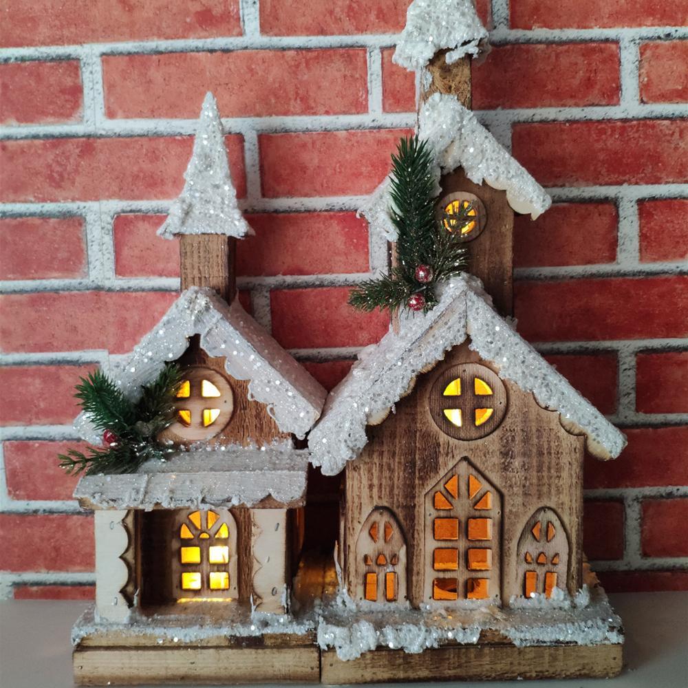Christmas Village Houses LED  Lights set for Home Decoration