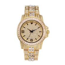 Ролевые часы мужские Топ бренд класса люкс Rolexable водонепроницаемые часы мужские часы Полный алмаз Hublo унисекс кварцевые часы с коробкой 2019(Китай)