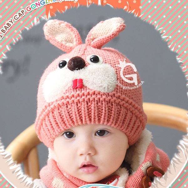 3a6eeec7a37 Winter Warm Hats Baby Kids Toddlers Cute Ears Hats Woolen Knitted Hat  Beanie Girl Boy Cap ...