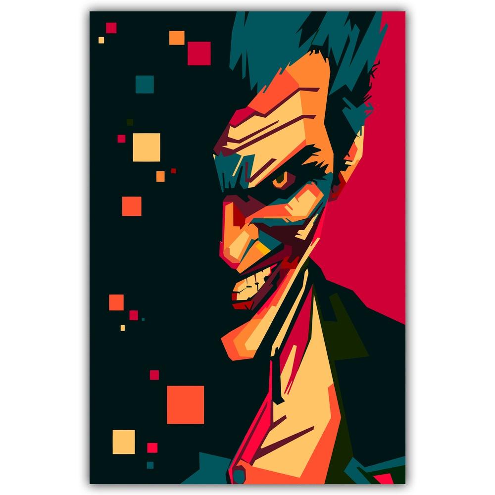 Joker Pop Art Diy Lukisan Dengan Nomor Kit Cat Pada Kanvas Lukisan