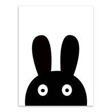 Один предмет современный минималистичный скандинавский черный белый каваи животные живопись холщовые принты большие домашний Декор стены...(Китай)
