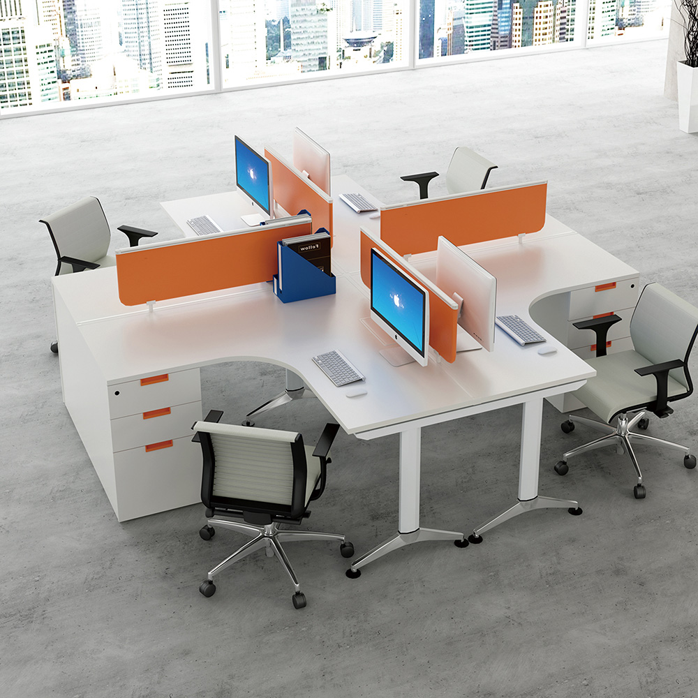 Modern Office Furniture Desk 4 Person Office Workstation View Workstation Lanpai Product Details From Foshan Lanpai Furniture Manufacture Co Ltd On Alibaba Com