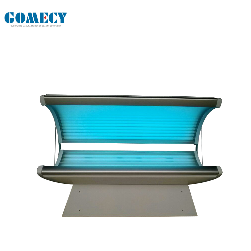 Standing and lying type professional sun tanning bed for skin tanning