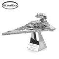 Imperial Star Destroyer model laser cutting 3D puzzle DIY metalic spacecraft jigsaw free shipping Star war