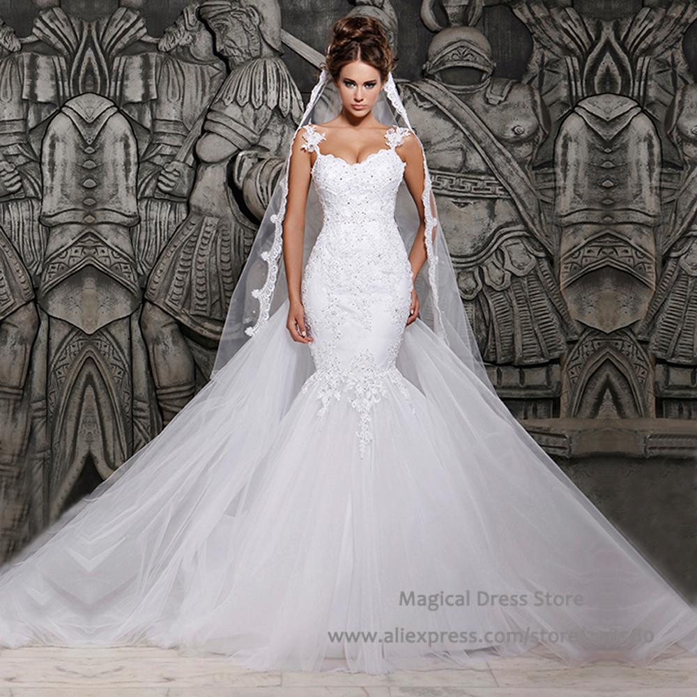 Mermaid Lace Wedding Gown: Aliexpress.com : Buy 2016 Sexy Backless Mermaid Detachable