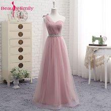 Тюлевое кружевное темно-розовое платье подружки невесты 2020 длинное женское платье трапециевидной формы для свадебной вечеринки платья для...(China)