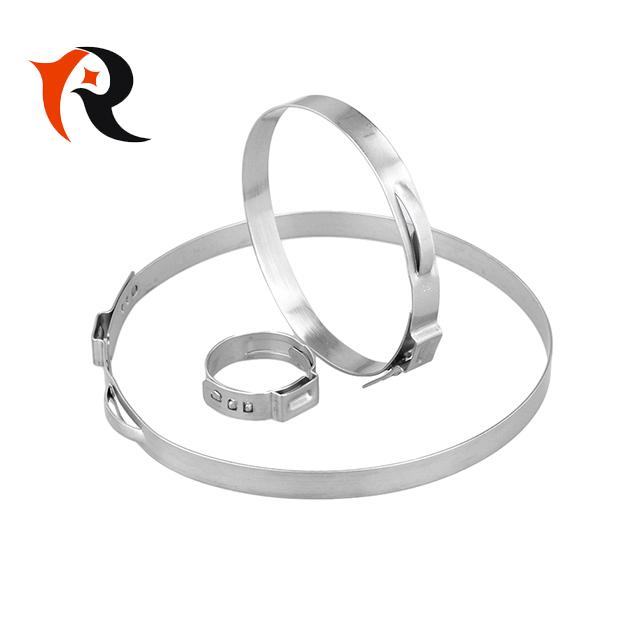 SUS 304 quick release single ear hose clamp O type clip