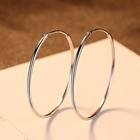 Sterling Hoop Earrings Silver Earring Silverhoop Quality Hoop Earring CZCITY Big Circle 925 Sterling Hoop Earrings Bulk Custom 2020 Earrings Huggie Silver Trendy Big Hoop Earring Women