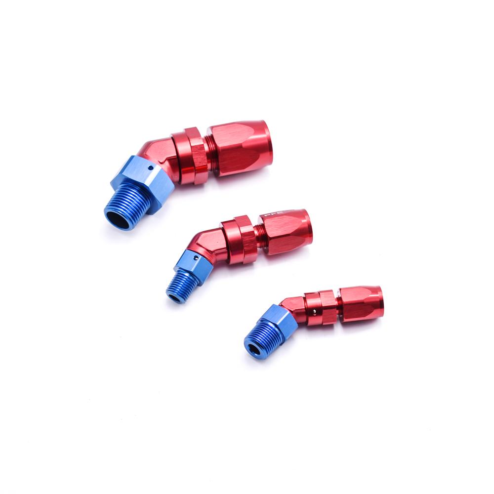 45/90 градусов, алюминиевый сплав 6061-t6, поворотный шланг с резьбой