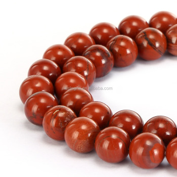Hot Wholesale Round Gemstone Loose Beads Red Jasper Stone