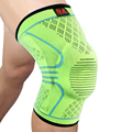 2 Pcs Kuangmi Compression Knee Sleeves Support Sports Safety Silicone Pads Basketball Spring Brace Knee Socks