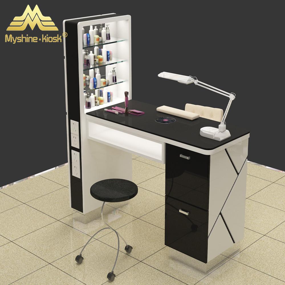 White Furniture For Nail Salon Furniture Prefab Manicure Table With Lamp -  Buy Salon Furniture,Nail Salon Furniture,Prefab Manicure Table With Lamp