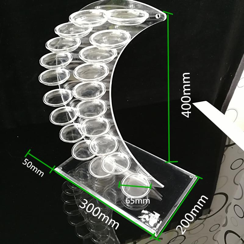 creative plastic dessert buffet tower stand for birthday