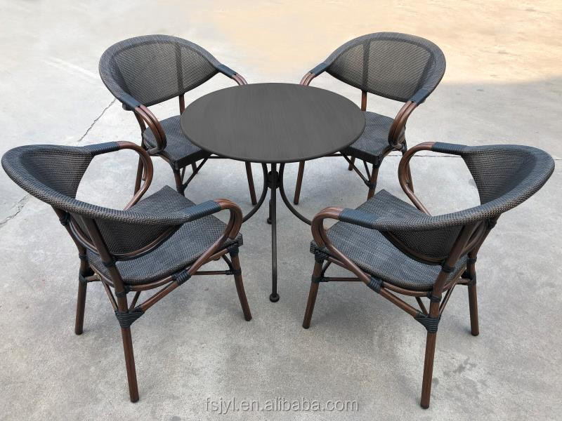 Classic hotel Furniture Aluminum cafe Chairs Sling dining chair