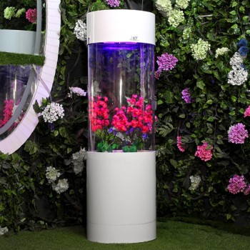 White Indoor Acrylic Fish Aquarium Fish tank Cylinder