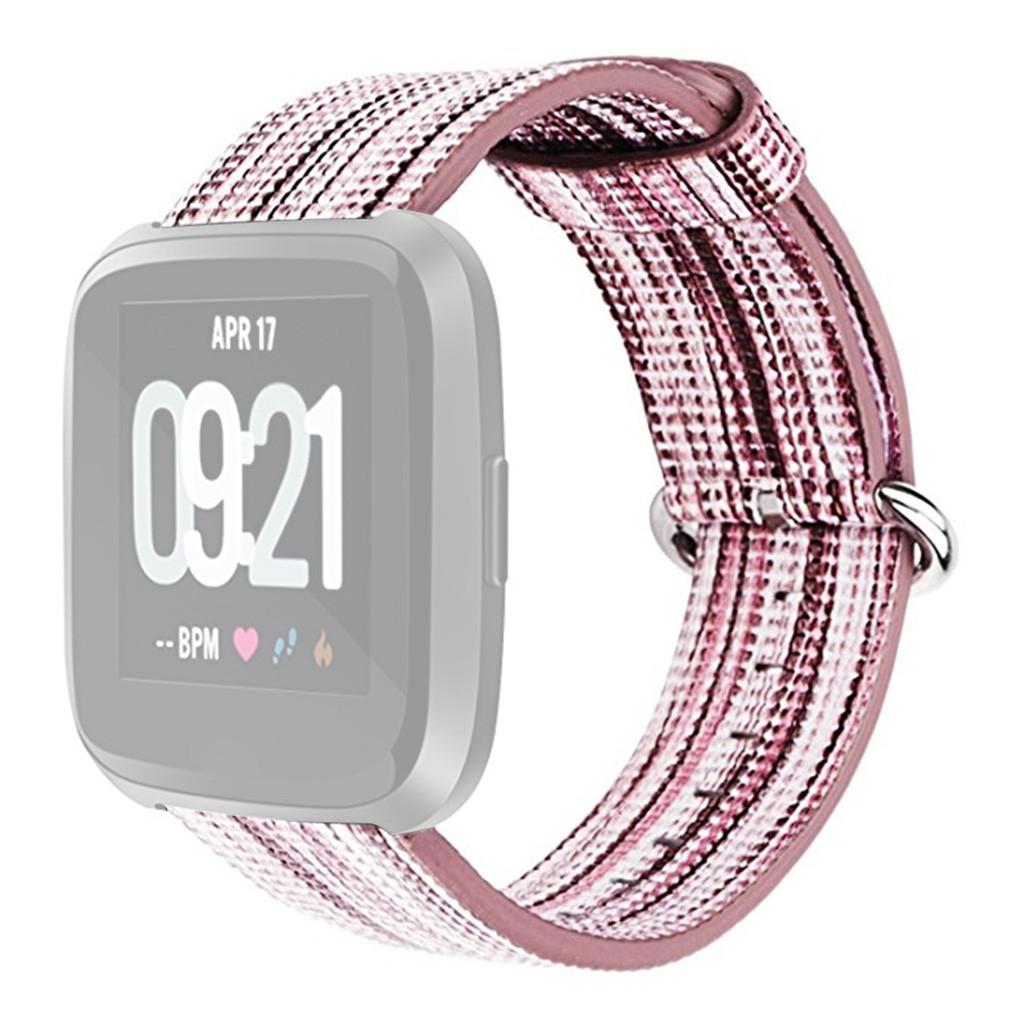 Nylon Replacement Band Sport Strap For Fitbit Versa Lite 2019 Fashion  Casual Women Men Watchbands Pin Buckle 2pcs Fine Woven