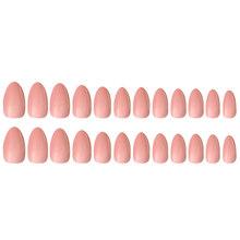 Накладные ногти натурального цвета, 24 шт./12 размеров, накладные ногти полного покрытия, искусственные акриловые ногти для салонов ногтей, ин...(Китай)