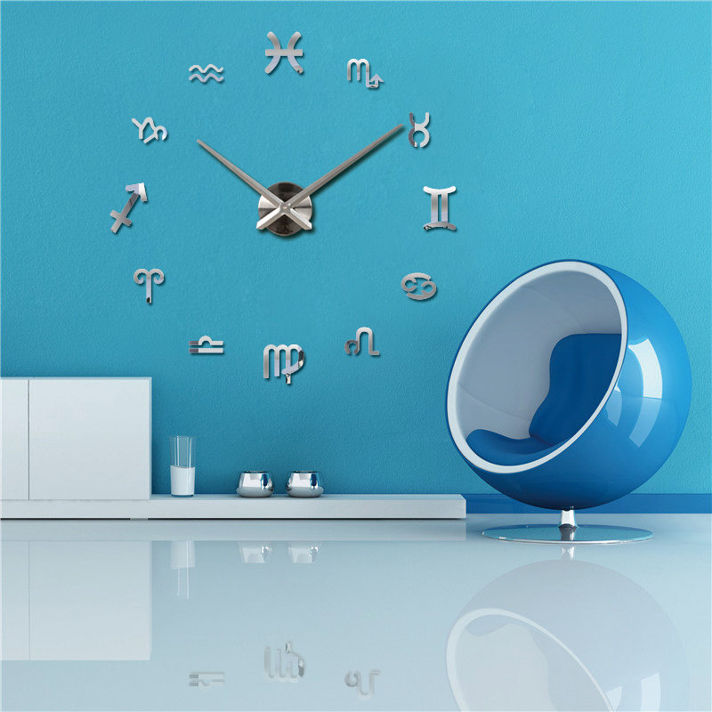 2016 new vintage wall clock modern design large diy acrylic clocks horloge murale quartz watch. Black Bedroom Furniture Sets. Home Design Ideas