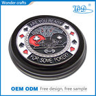 Poker Set Professional Custom Design Die Stamp Iron Material Shiny Gold Plating Epoxy Poker Chip Set Manufacturer