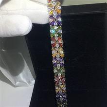 Женский браслет с цветами ручной работы, белый, розовое золото, AAAAA, роскошные праздничные и свадебные браслеты для женщин, 2019(Китай)