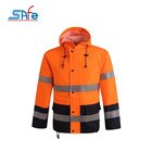 Rain Coat Fabric 100% Polyester Waterproof 300d Oxford Pu/pvc Coated 100% Rain Coat Waterproof High Visibility Reflective Fabric Jacket Raincoat Colors For Motorcycle