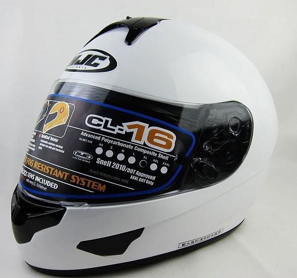 Спортивные мотоциклетный шлем / подлинных корейский полный - шлем HJC / CL-16 / белый шлем полной S-XXL