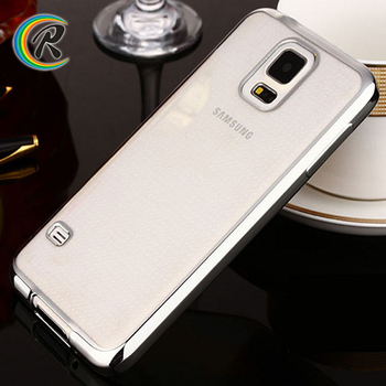 Perfectly Fit case for samsung i9295 galaxy s4 active S5 plating bumper tpu silicon phone cover case
