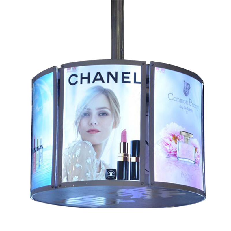 china  factory Crystal light box A2 rotating picture backlit acrylic light box transparent window display backlit photo frame