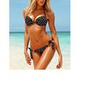 Dot Push Up Swimwear Cute Bandage Bathing Suits Free Shipping Black 2016 New Fashion Hot Sexy