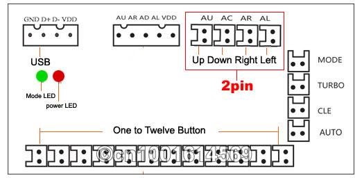 Arcade Game New DIY Parts for Mame USB 2 USB Encoder + 2