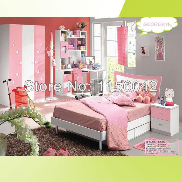 Top sale nice cute pink color children kids furniture bed - Children bedroom furniture cheap ...