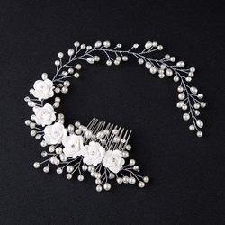 korean magic hair comb handmade pearl flower hairband hair accessories bridal