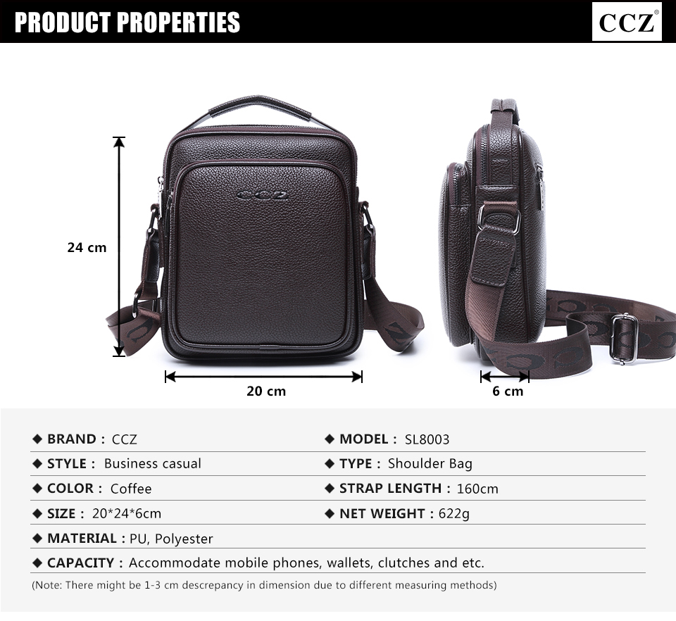8c5c9a64014c CCZ New Arrival Mens Shoulder Bags PU Leather Handbags For Men Solid ...