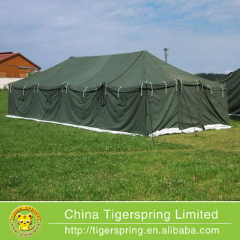 Used large waterprof military style canvas tents for disaster