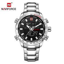 NAVIFORCE мужские часы, полностью Стальные кварцевые цифровые часы, водонепроницаемые часы, мужские модные синие часы, мужские часы, дропшиппин...(Китай)
