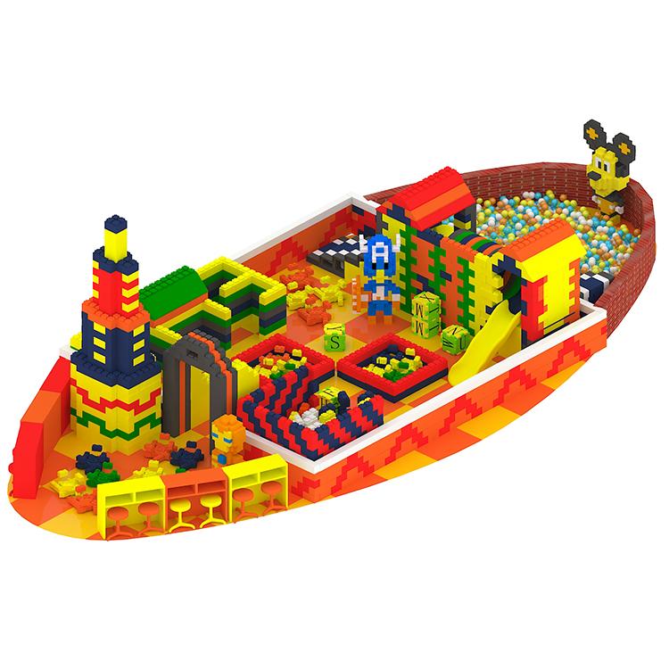 Коммерческая безопасная крытая игровая площадка, красочный строительный блок из пенополистирола для продажи