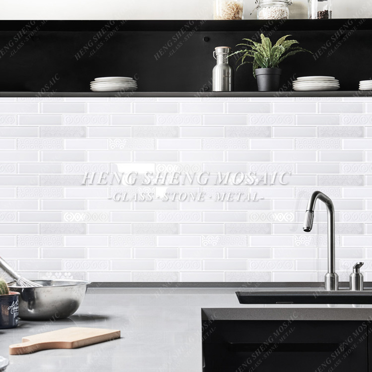 Super White Glass Subway Tile Kitchen Wall Mosaic For Sale Buy White Subway Tile Subway Tile Glass Subway Tile Product On Alibaba Com