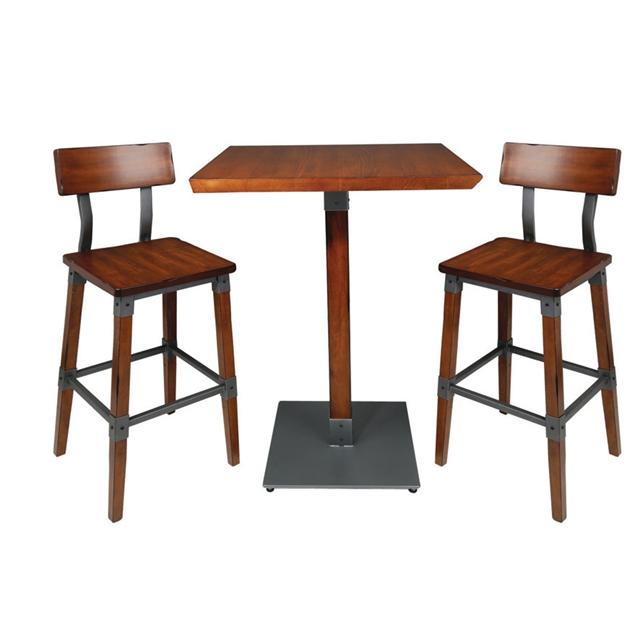Кофейный столик и стулья из нержавеющей стали для ресторана