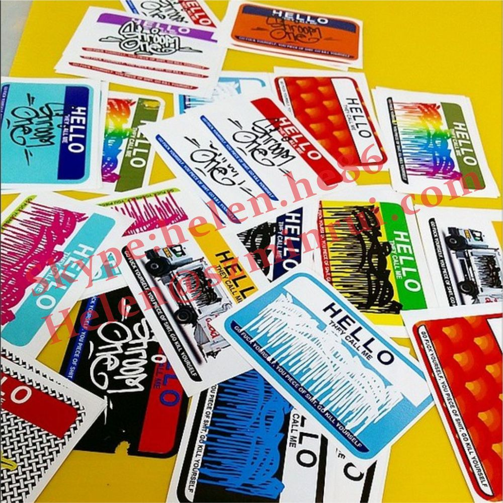 Custom 0 1mm Thickness Eggshell Stickers With Strong