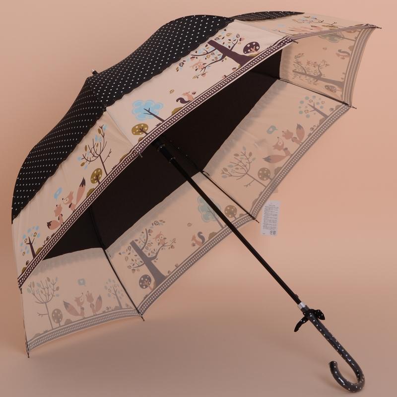 Бесплатная доставка 5 цветов чернь женщина мода с зонтика с симпатичные фокс печать