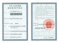People's Republic of Organization Code Certificate