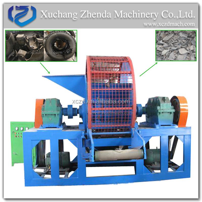 Hot! Rubber recycling machine Scrap tire crushing machine waste rubber crusher machine
