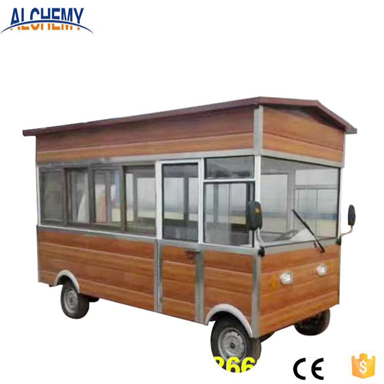 Трехколесный пищевой грузовик тележка уличный киоск для продажи
