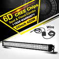 Oslamp 32 inch 420W 6D LED Light Bar CREE Chips Combo Beam Led Work Light Offroad